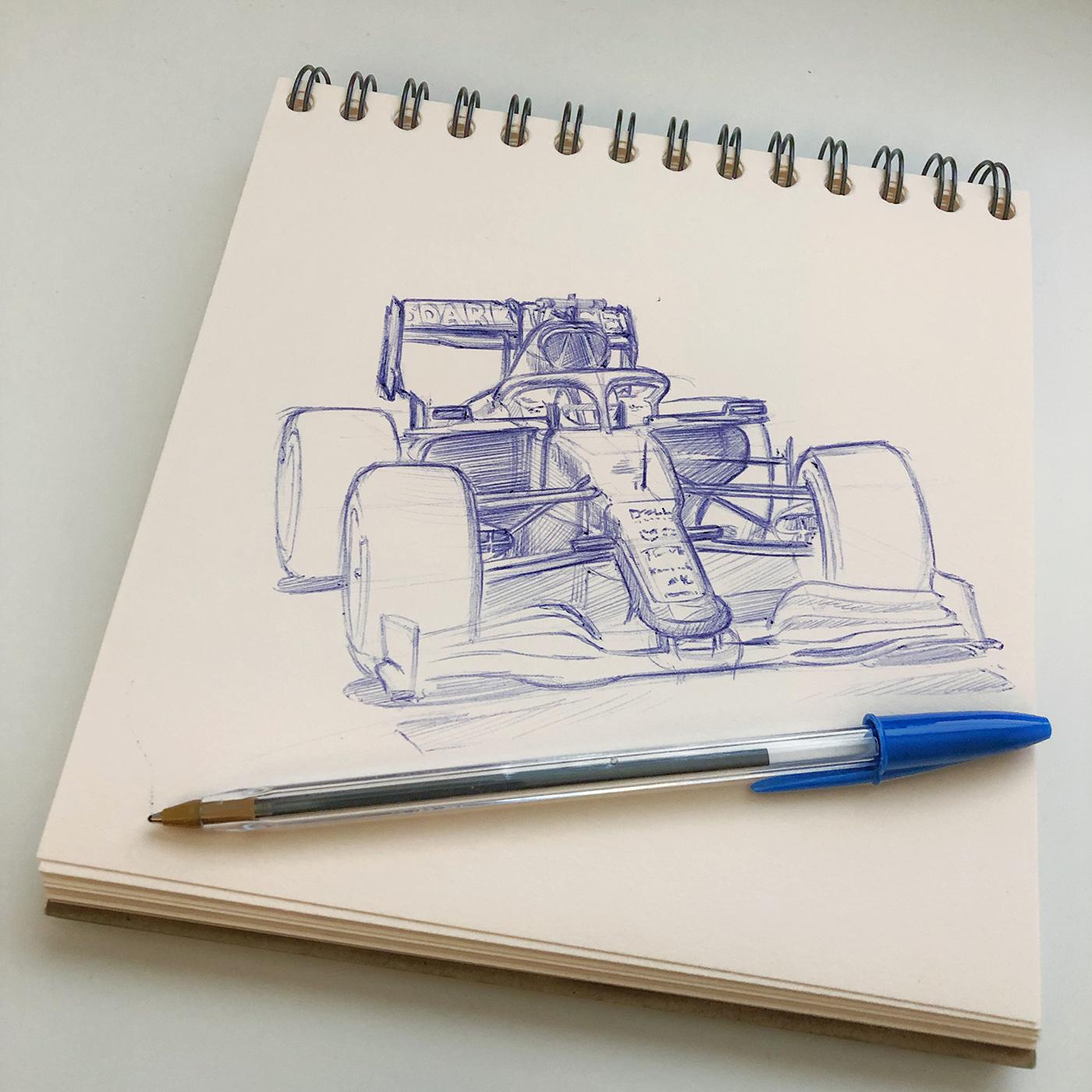 F1 Sketch Norris